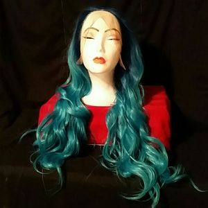 Blue ombre lace front synthetic wig 💙💞